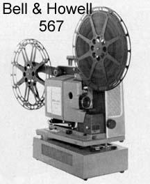 Picture of Bell and Howell 567 projector
